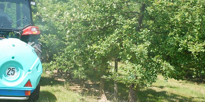 De nombreux équipementiers seront présents, au Cefel, pour la journée de démonstration sur la pulvérisation en verger de pommiers.