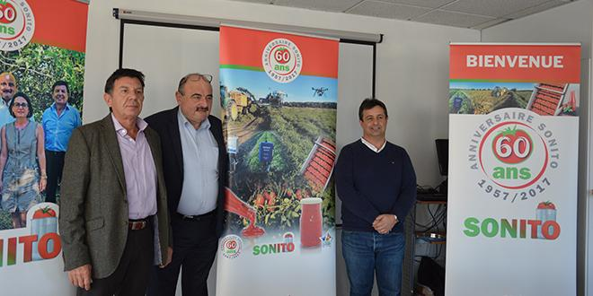 Pascal Lenne, André Bernard et Robert Giovinazzo sont respectivement directeur, président et responsable technique au sein de la Sonito. © C.Even/Pixel Image