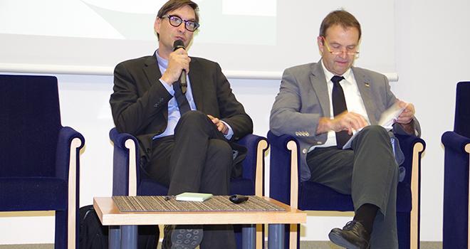 Suite au décès de Claude Cochonneau (à droite), c'est Sébastien Windsor (à gauche) qui assurera l'interim à la tête de l'APCA. Photo : M.-D.Guihard/Pixel6TM