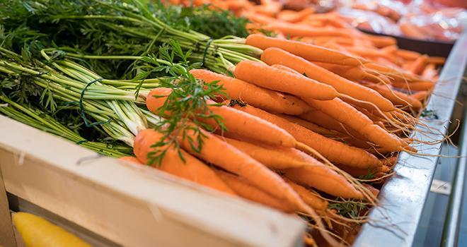Les prix de la carotte sont proches de ceux de l'ensemble des légumes frais sur la 2e partie de campagne 2020-2021, à l'exception du mois d'avril. Eléonore H/Adobe Stock