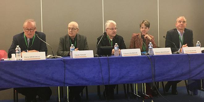 Sénateurs, sociologues, ingénieurs et associations étaient présents à la rencontre de l'Aprifel 2017 pour parler des enjeux environnementaux, économiques et de santé publique sur la consommation des fruits et légumes en France. Crédit photo : dr