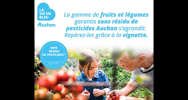Auchan Retail France a lancé, dans le cadre du programme La Vie en Bleu, une révision de son offre « pour proposer des produits encore plus sûrs et sains. » Photo : DR