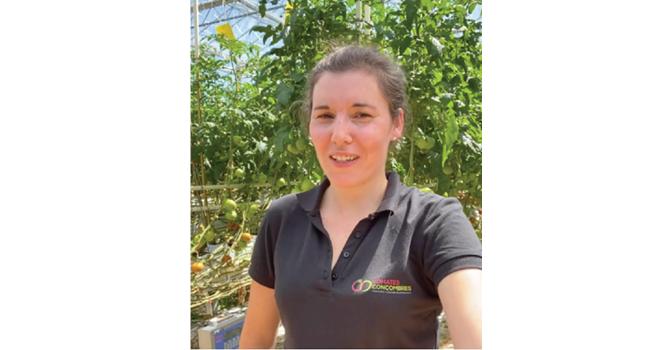 Anaïs, jeune productrice de la coopérative Océane : « Je me suis lancée dans le maraîchage aux côtés d'un maraîcher plus aguerri. » Photo : DR