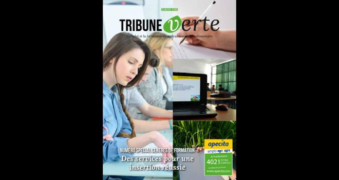 Une nouvelle maquette de Tribune verte en adéquation avec la nouvelle charte graphique de l'Apecita. Photo : DR