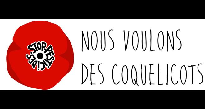 """Le collectif """"Nous voulons des coquelicots"""" demande l'interdiction des pesticides de synthèse, """"Pas demain. Maintenant"""". Photo : Nous voulons des coquelicots"""