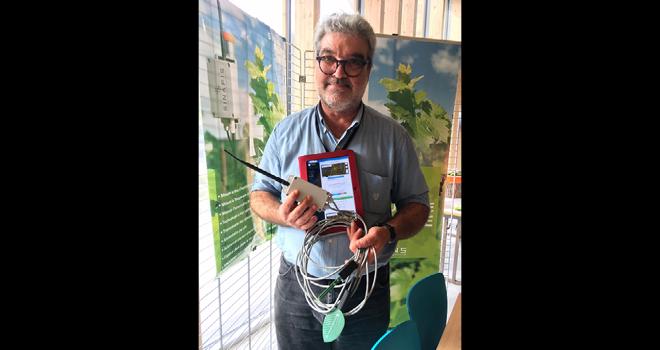 Les sondes Sinasens Smartagri de Sinafis sont proposées en location et non à la vente, indique Ari Kambouris, le cofondateur. Photo : DR