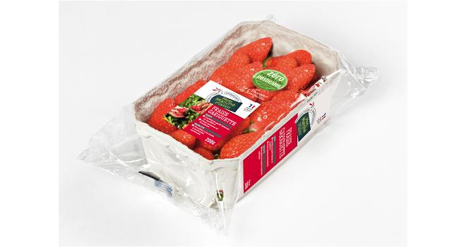 Intermarché appose le sticker « Zéro résidu de pesticides » sur de nouveaux fruits et légumes de sa gamme Mon marché plaisir. Photo : DR