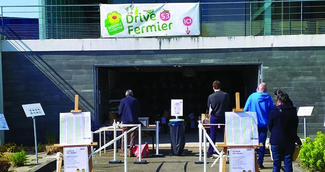 Le service d'approvisionnement des clients est maintenu chez les producteurs du réseau Bienvenue à la ferme, qui ont mis en place des dispositifs sanitaires et spéciaux. Photo : DR