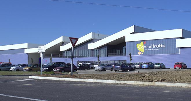 La nouvelle station de conditionnement et d'expédition de Cancel Fruits. Photo : DR
