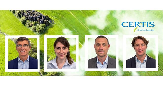 L'équipe de Certis a dévoilé début mai sa stratégie de développement sur sa gamme « Biorationals ». Photo DR