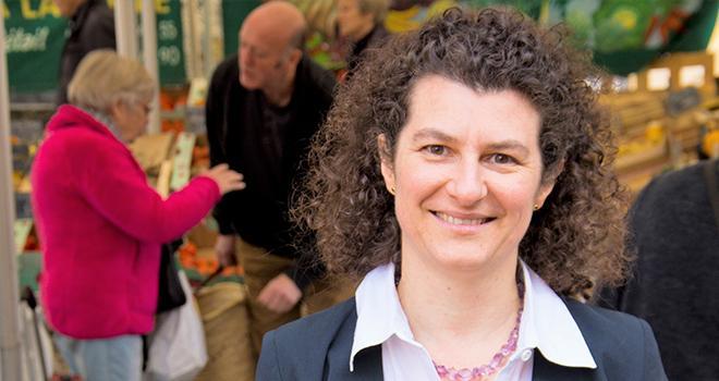Christel Teyssèdre est également présidente de Saveurs Commerce, la Fédération nationale des commerces alimentaires spécialisés de proximité. Photo : Fleur Masson