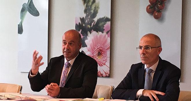Marc Keranguéven, président de la Sica de Saint-Pol-de-Léon et Olivier Sinquin, directeur. Photo : Sica