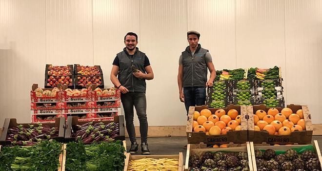Lucas et Tony Saglietto des primeurs 2.0. Photo : Monprimeurenligne