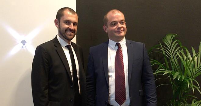 Marc de Nale, directeur, et Geoffroy Cormorèche, président de Demain la Terre ont présenté au Salon de l'agriculture, les deux nouveaux critères facultatifs de la charte de l'association pour valoriser la réduction de l'usage des phyto. Photo : b.bosi
