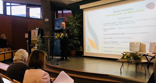 À l'occasion de l'ouverture de la 10e édition des Rencontres du Végétal, Dominique Vollet, directeur adjoint d'AgroCampus Ouest, a émis l'hypothèse d'ouvrir l'événement à l'international. Photo : B.Bosi/Pixel image