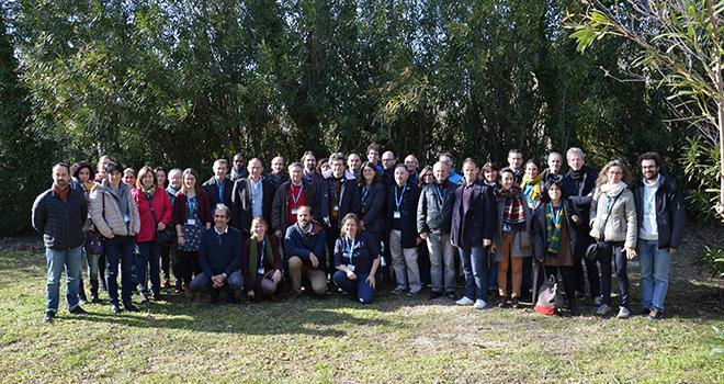 Comité de pilotage de l'UMT Si-Bio lors de son lancement. Photo : C.Even/Pixel6TM