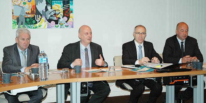 De gauche à droite : Jean-Michel Péron, secrétaire général adjoint de la Sica de St-Pol-de-Léon, Jean-François Jacob, président, Olivier Sinquin directeur et  Marc Kérangueven, secrétaire général.
