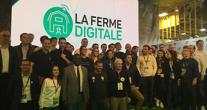 La famille de la Ferme Digitale, réunie au Salon de l'agriculture, rassemble de plus en plus de membres. Photo : b.bosi