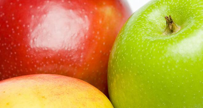 Fin février 2018, le niveau de stocks de pommes était inférieur de 6 % à celui de fin février 2017. Photo : MorePixels