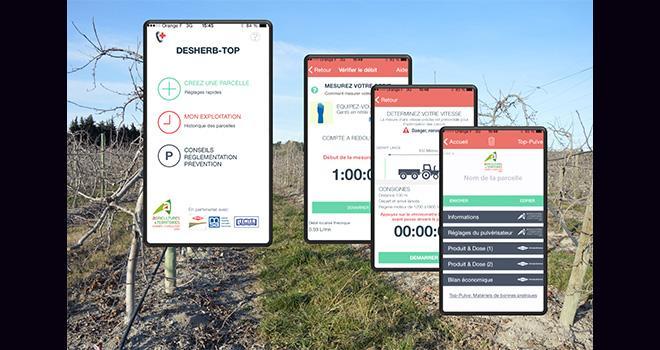 La nouvelle application Desherb-Top pour le désherbage localisé en viticulture et arboriculture a été présentée ce 28 janvier à la Chambre d'agriculture du Gard.