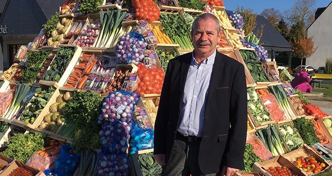 Jacques Rouchaussé, président de Légumes de France, ouvrira le 62e congrès national de l'organisation le 15 novembre au Mont-Saint-Michel. Photo : B.Bosi/Pixel Image