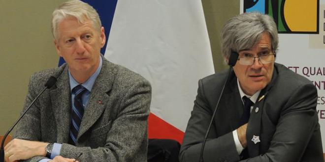 Jean Charles Arnaud président de l'INAO et Stéphane Le Foll, ministre de l'Agriculture.