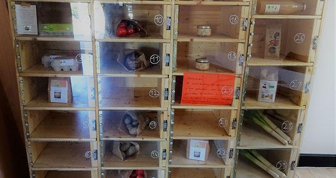 Les Casiers du coin : un distributeur automatique de légumes et de produits frais construit par le producteur lui-même et relié à une application de commandes 100 % en ligne. Photo : DR