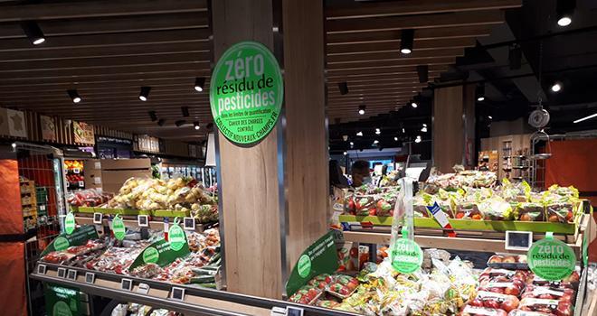 Depuis le lancement de la marque en 2018, plus de 100 millions d'UVC labellisées « Zéros résidu de pesticides » ont été commercialisées. ©Collectif Nouveaux Champs-Label Zéro Résidu de Pesticides