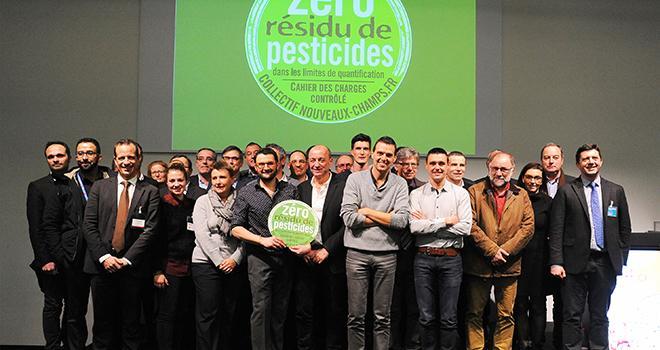 """Depuis son lancement en janvier, le collectif Nouveaux Champs – qui rassemble des entreprises proposant des fruits et légumes """"Zéro résidu de pesticides"""" – ne cesse de s'élargir. Photo : Nouveaux Champs"""