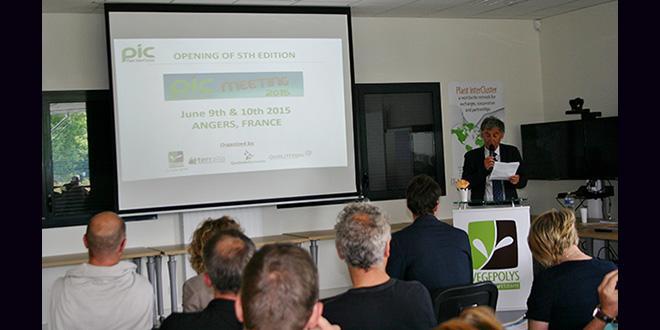 Jacques Antoine Cesbron, président de Végépolys, a introduit la 5e édition du Plant InterCluster Meeting à Angers, les 9-10 juin 2015.