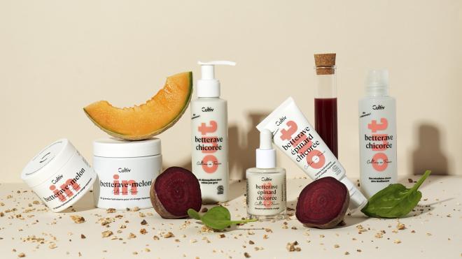 Cultiv est la nouvelle gamme de cosmétiques et de compléments alimentaires à base de légumes certifiés bio, dont plus de 99,4% des ingrédients sont d'origine naturelle. Photo : Cultiv