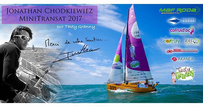 Ce jeudi 5 octobre, Jonathan Chodkiewiez, sur Tasty Granny, pointait à la 13e place. Photo : DR
