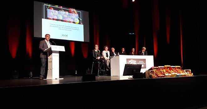 Le président de Savéol, Pierre-Yves Jestin, a annoncé le lancement du cercle Savéol Energies Nouvelles lors de l'assemblée générale de la coopérative le 19 avril. Photo : Savéol