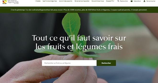 Le site Internet grand public lesfruitsetlegumesfrais.com a été repensé et redesigné. Photo Interfel