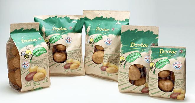Le nouvel emballage en papier du groupe Sorma a été testé avec des pommes de terre et des oignons. Photo : Sorma Group
