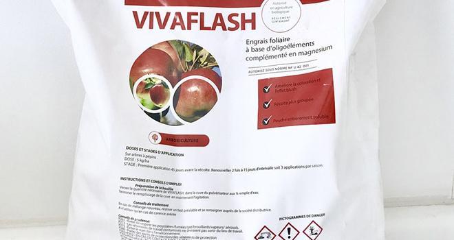 Vivaflash® est un nouvel engrais foliaire formulé à base d'oligoéléments (manganèse, zinc et magnésium) de Vivagro. Photo : Vivagro