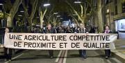 Ils étaient plus de 150 à manifester ce matin à Avignon. Photo : Fleur Masson / Pixel Image.