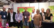 C'est au Medfel qu'Agro Selections Fruits et sa marque Regal'In ont lancé, entourés de leurs producteurs partenaires, leur association Nectarines blanches plates. Photo : Agr Selections Fruits