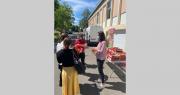 140 kg de tomates des Paysans de Rougeline ont été distribués aux 350 étudiants présents sur le campus de l'école de Purpan. Photo : École de Purpan