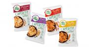 Dernière innovation chez « Il était un fruit » : une gamme apéritive de pétales de pommes et de carottes, juste séchés et relevés d'épices, sans sel ni huile. Photo : DR