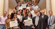 16 lauréats ont été récompensés à la remise des prix du concours d'étalages de fruits et légumes, organisé entre autres par le Ctifl et la CCI Nice Côte d'Azur.© CCI Nice Côte d'Azur