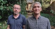 Jean-René Gourdon à gauche et son successeur Jean-Sébastien Berger au poste de responsable commercial Dalival. Photo : Dalival