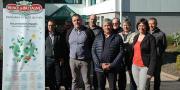 Anne-Marie L'Aminot, directrice générale de l'UCPT (à droite), Gilbert Brouder, président, ainsi que les membres du conseil d'administration ont invité les producteurs à l'assemblée générale de la coopérative le 18 mai à Yvias (Côtes-d'Armor).