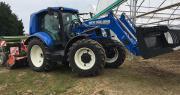 Le prototype T6.180 Méthane Power de New Holland est un tracteur fonctionnant exclusivement au GNV (gaz naturel véhicule). Photo : O.Lévêque/Pixel Image