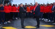 Le Centre d'entraînement Sica-Prince de Bretagne a été officiellement inauguré le 5 mars par Denis Le Saint, président du Stade Brestois 29, et Marc Keranguéven, président de la Sica. Photo : Stade Brestois 29