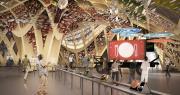 L'Expo Milan 2015 ouvre ses portes le 1er mai. Ci-dessus, en image de synthèse, le Pavillon France et sa scénographie qui met à l'honneur la richesse de l'alimentation française.
