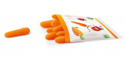 Les P'tites carottes bio origine France sont vendues dans des portions de 60 g.