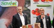 Pierre-Yves Jestin, président de Savéol, aux côtés de Ronan Loison, le nouveau directeur, lors du SIA 2020. Photo : O.Lévêque/Pixel6TM