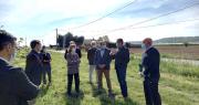 Leader français de la production de kiwis, la SCAAP Kiwifruits de France a présenté aux représentantes de l'État son activité et ses projets. Photo Scaap Kiwifruits