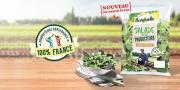 """Avec sa nouvelle gamme """"la Salade de nos producteurs"""", Bonduelle propose des jeunes pousses de saison garanties 100% françaises toute l'année."""